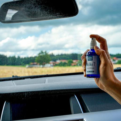 Wolke7 Spray Balance Spray im Auto verwenden