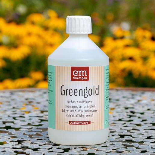 Greengold für Boden und Pflanzen in 0,5L bei EM-Chiemgau