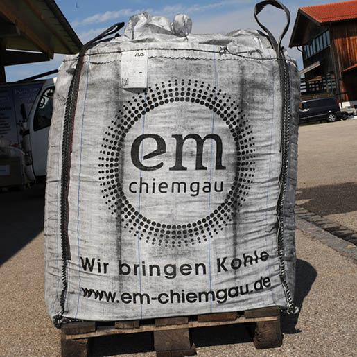 Pflanzenkohle im Big Bag