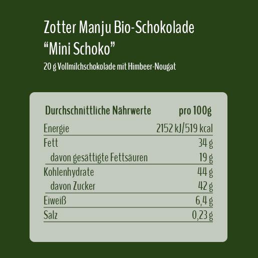 Zotter Manju BioSchokolade
