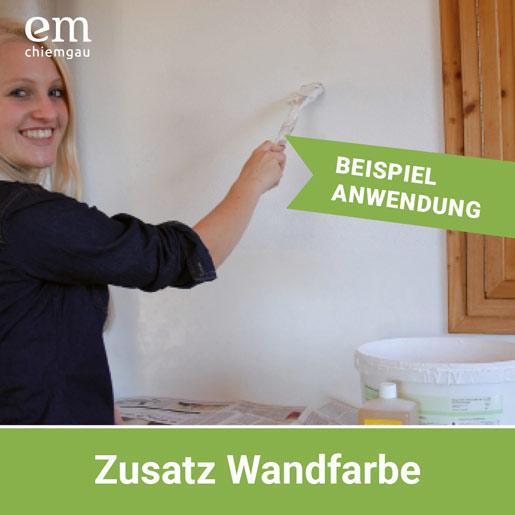 EM-Keramikpulver als Zusatz zur Wandfarbe
