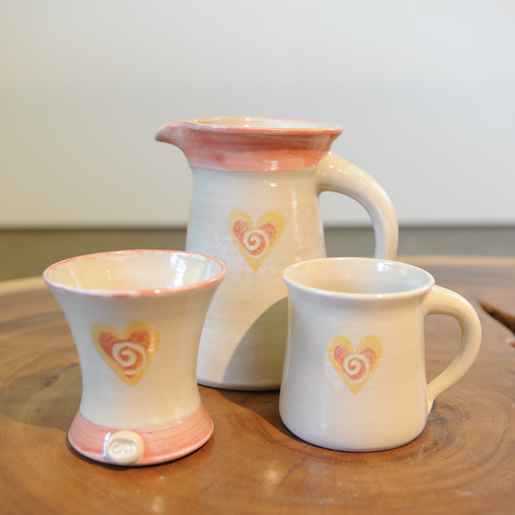 Ton Keramik Unterschied em kin steinzeug keramik herz