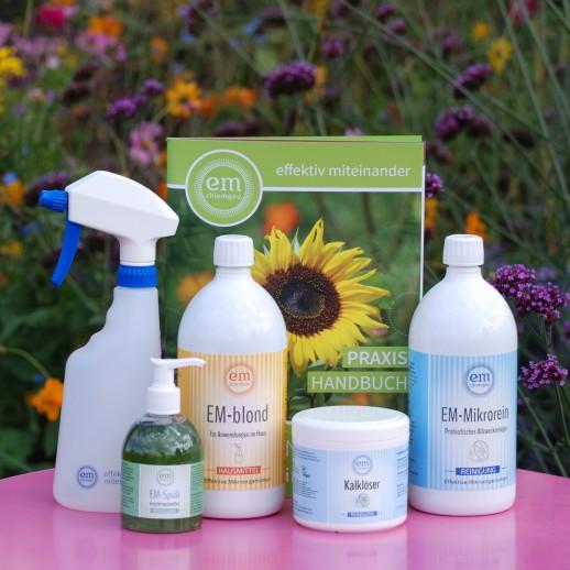 Verschiedene Produkte für die Reinigung mit EM
