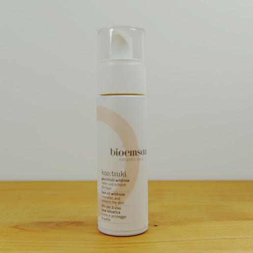 bioemsan-Gesichtsöl-Wildrose-Spenderflasche