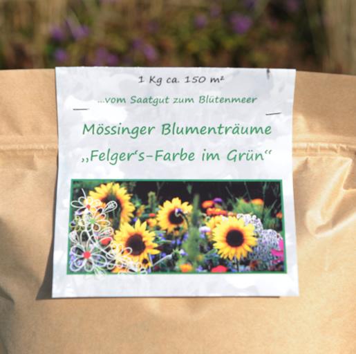 Blumensamen-farbe-in-gruen-Etikett