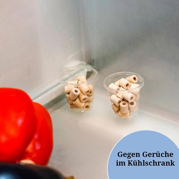 EM-Keramik Pipes im Kühlschrank helfen gegen unangenehme Gerüche