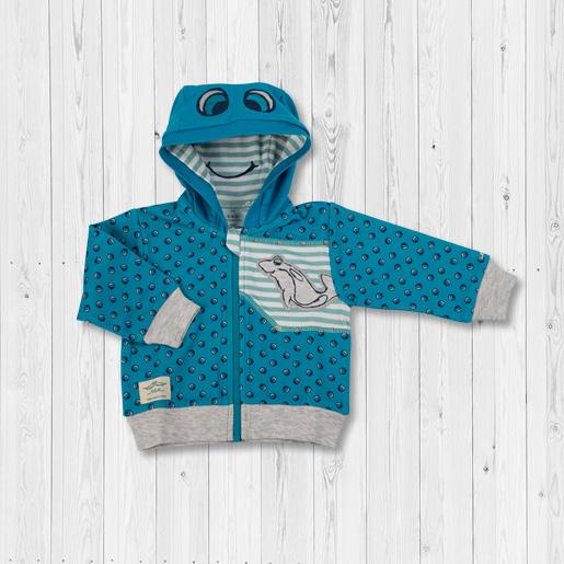 + Babyweicher Fleece-Stoff, besonders strapazierfähig, Sweatjacke Laguna Babygewand