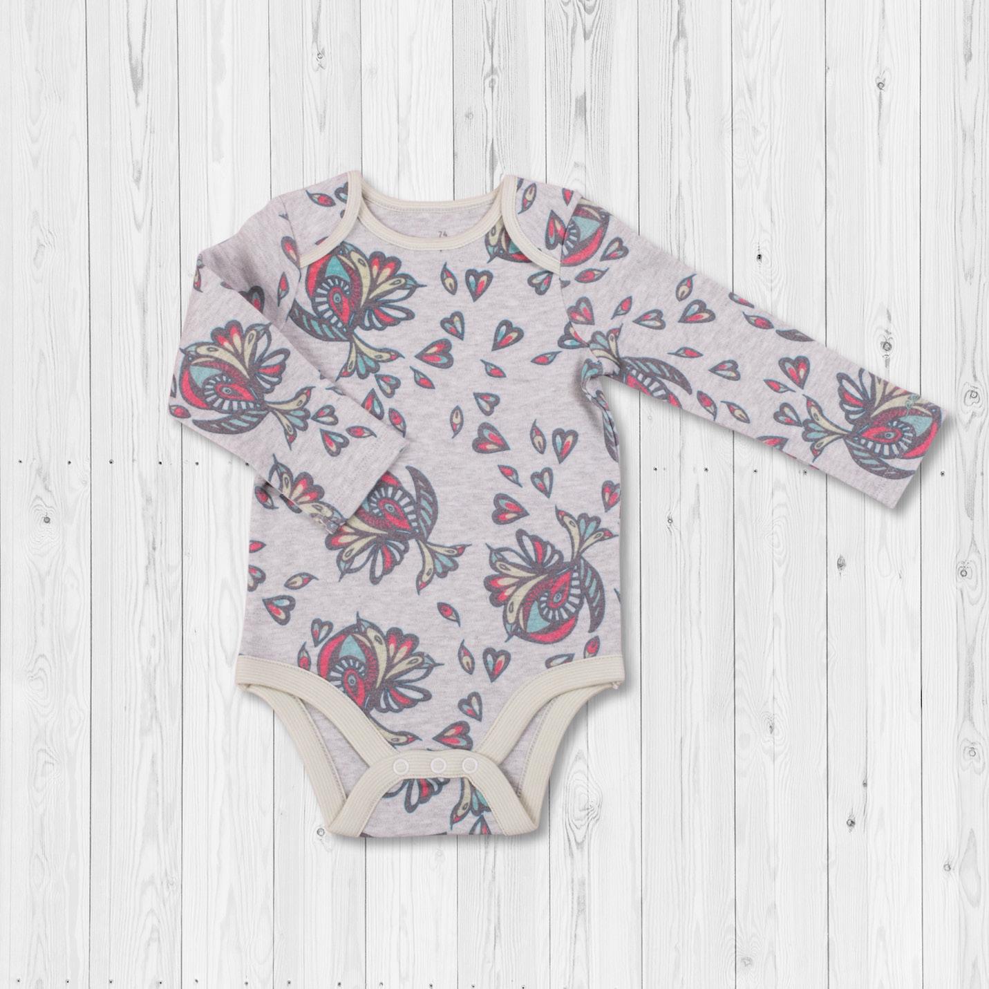 Babyklamotten: Body aus 100 % Bio-Baumwolle mit EM-Keramikpulver und Tumalin Edelstein, hochwertig und sanftes Hautgefühl
