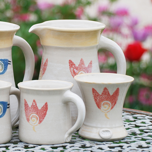 EM-Keramik Steinzeug Motiv Blume