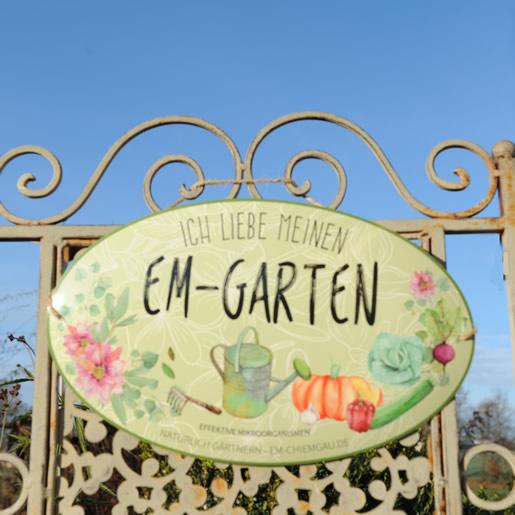 EM-Gartenschild