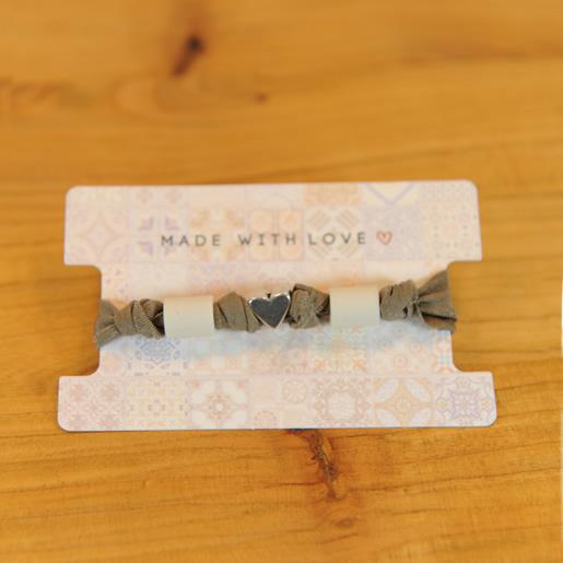 EM-Lastik Armband-grau