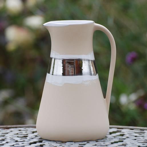 EYL-EM-Keramik-Karaffe-platin-glänzend-EM-Chiemgau