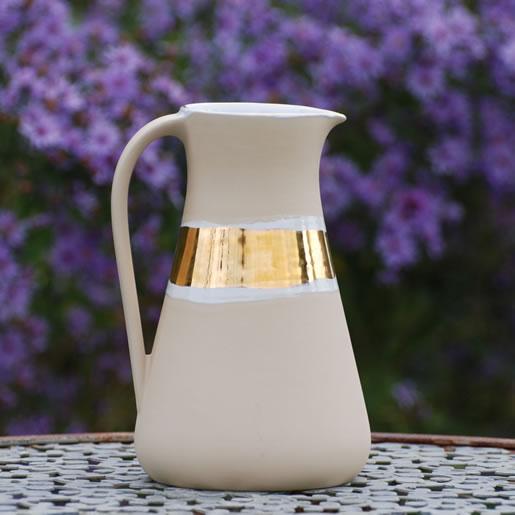 EYL-EM-Keramik-Krüge-Karaffe-gold-glänzend-EM-Chiemgau