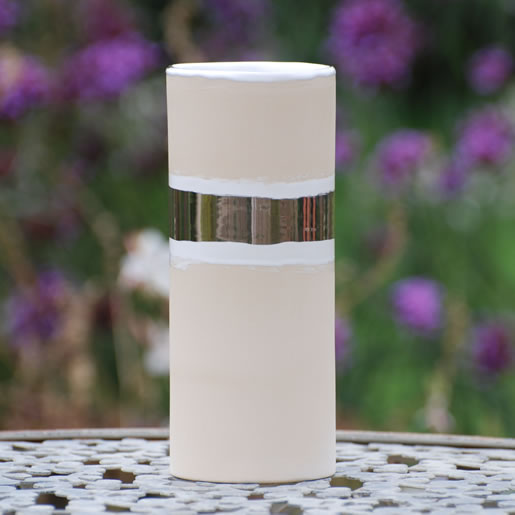 EYL-EM-Keramik-Vase-schmal-platin-glänzend-EM-Chiemgau