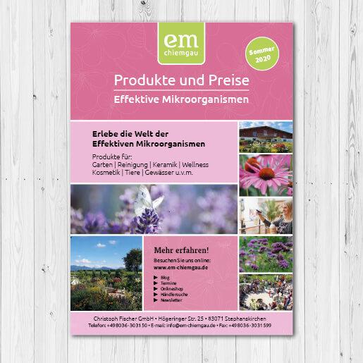 Produktsortiment von EM-Chiemgau