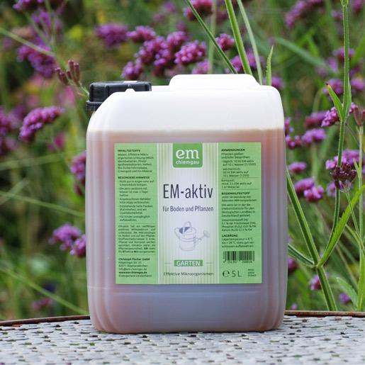 EM-aktiv für Garten, Boden, Pflanzen - im praktischen 5 L Kanister