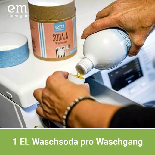 Wie dosiert man Waschsoda in der Waschmaschine