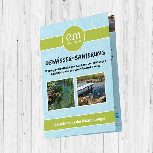 Flyer Gewässersanierung Cover