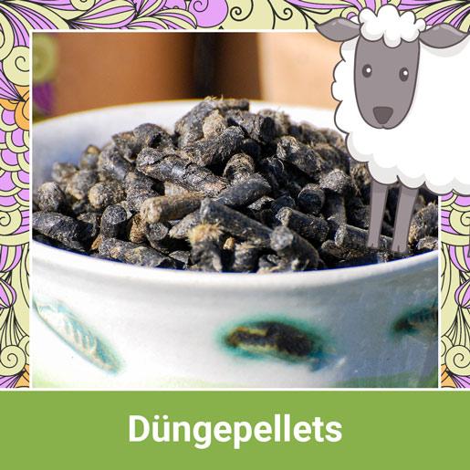 Schafwoll Düngepellets mit Pflanzenkohle