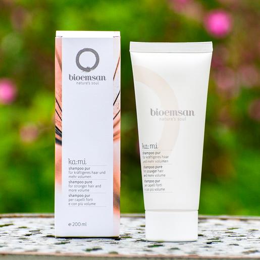 bioemsan shampoo pur in der 200 ml Tube ohne Duftstoffe, besonders für Allergiker geeignet