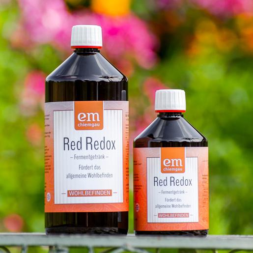 Red Redox Fermentgetränk zur Förderung der Allgemeinen Wohlbefindens erhältlich in 0,5 Liter oder 1 L Flasche