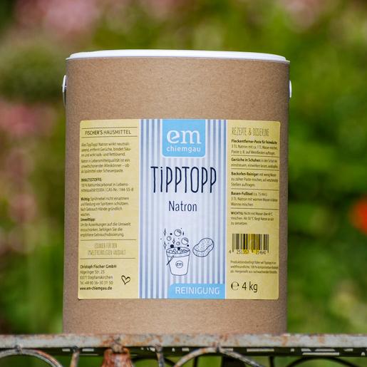 Tipp Topp Natron in der 4 Kg Papptrommel vielseitig und umweltfreundlich einsetzbar von Fischers Hausmittel