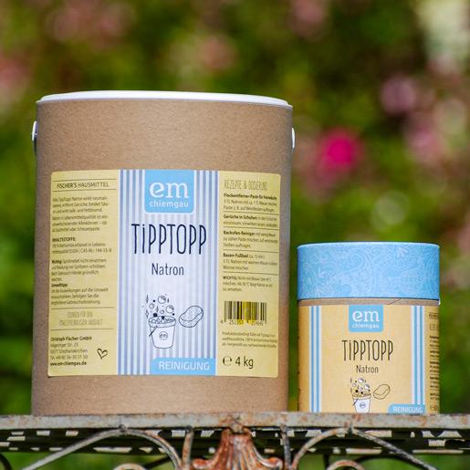 Tipp Topp Natron Gruppenbild 4 Kg Papptrommel und 650 g Pappdose vielseitig und umweltfreundlich einsetzbar von Fischers Hausmittel