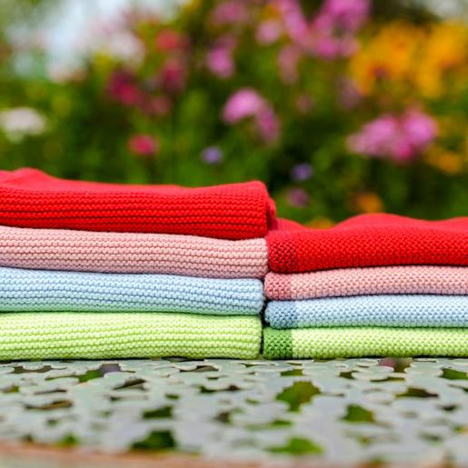 Set aus Handtuch & Spültuch in unterschiedlichen Farben von Solvang