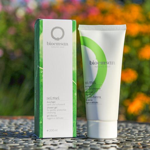 Bioemsan Duschgel sei mei in der 200 ml Tube natürliche Reinigung für eine porentief gepflegte Haut