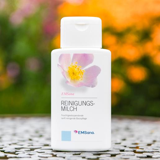 EMSana Reinigungsmilch sanft reinigende Basispflege in der 150 ml Flasche