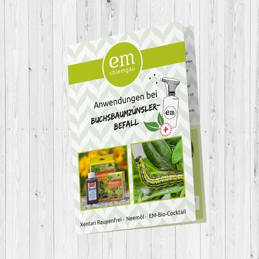 Folder Buchsbaumzünsler Cover EM-Chiemgau
