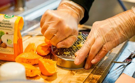 Orangen fermentieren